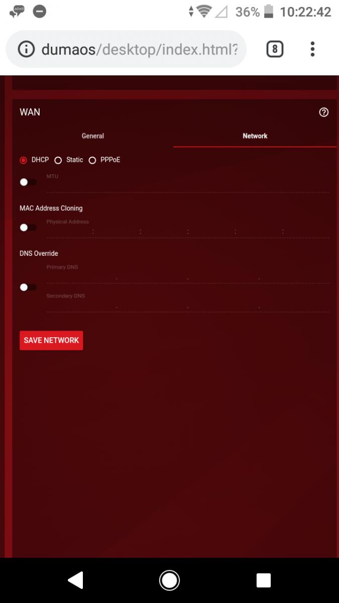 Help getting modem working in bridge mode with DumaOS - DumaOS on