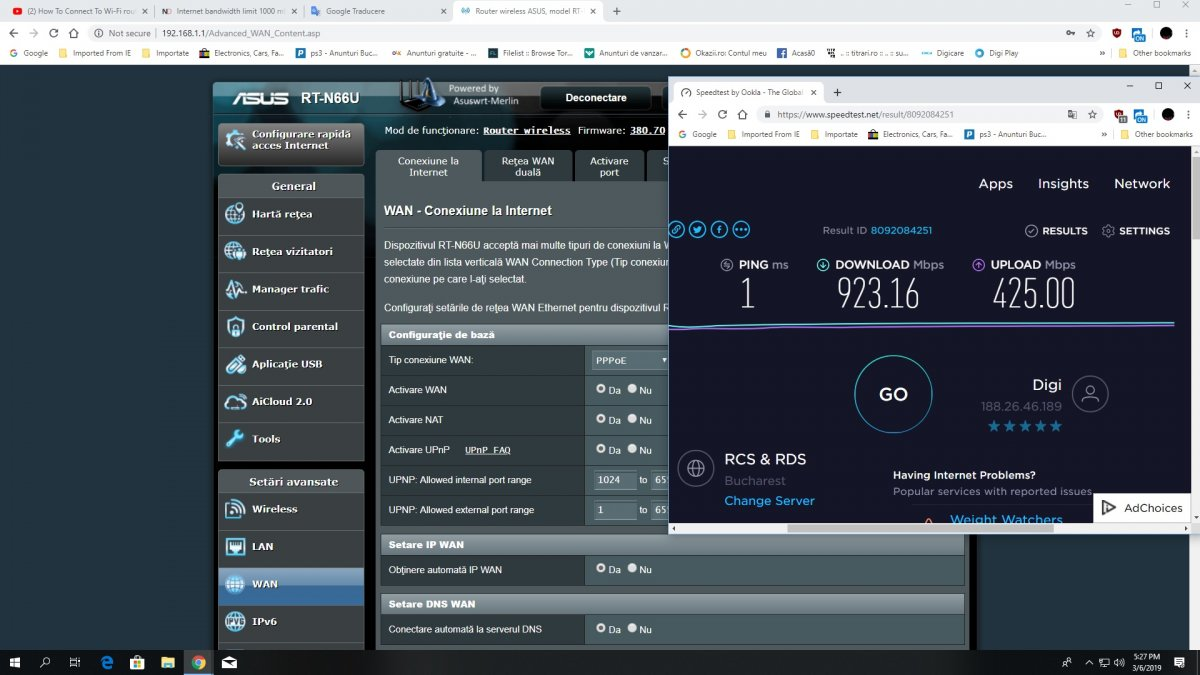 Internet bandwidth limit 1000 mb to 100 - DumaOS on Netduma R1